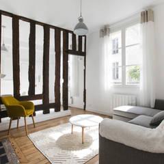 Séjour: Salon de style de style Minimaliste par ATELIER FLORENT - Architectes d'Intérieur Paris