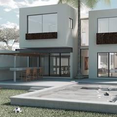 Casas unifamiliares de estilo  por Heftye Arquitectura