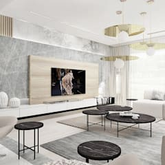 PERFECT MATCH | I | Wnętrza domu: styl , w kategorii Salon zaprojektowany przez ARTDESIGN architektura wnętrz