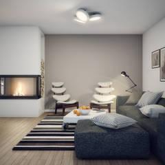 Haus in Lower Austria:  Wohnzimmer von Natalia Fahim Interiors
