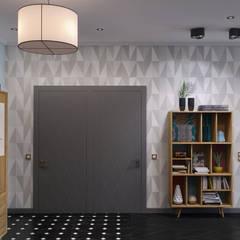 Koridor dan lorong oleh Wide Design Group, Mediteran