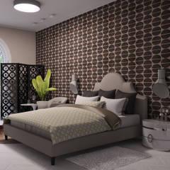 «New Retro»: Спальни в . Автор – Wide Design Group