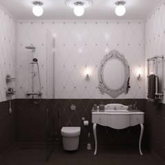 «New Retro»: Ванные комнаты в . Автор – Wide Design Group