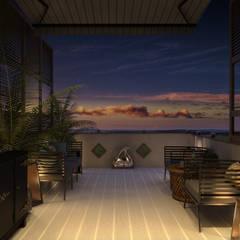 «New Retro»: Tерраса в . Автор – Wide Design Group