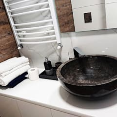   Vessel Stone Sink - Black Stone Basin:  Bathroom by Lux4home™ Indonesia