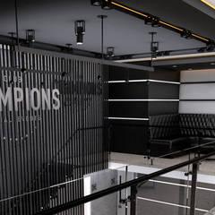 Bar champions: Pasillos y recibidores de estilo  por ELOARQ