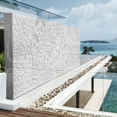 LOFT FLORAL - 3D Platten aus GRC Beton:  Villa von Loft Design System Deutschland - Wandpaneele aus Bayern