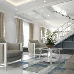 Treppen und Wohnzimmer 3D Visualisierung und Architekturvisualisierung - kostenloser Preisvergleich beim Visualisierungskompass.de:  Treppe von ViKo - Dein Visualisierungskompass