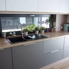 置入式廚房 by AL Interiores