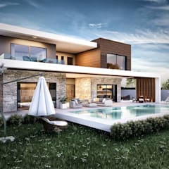 ANTE MİMARLIK  – Güzelbahçe villa:  tarz Evler, Modern