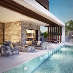 ANTE MİMARLIK  – Güzelbahçe villa:  tarz Bahçe havuzu