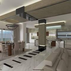 :  غرفة السفرة تنفيذ ZAYED Studio