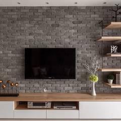 اتاق نشیمن توسط鼎士達室內裝修企劃, مدرن سنگ آهک