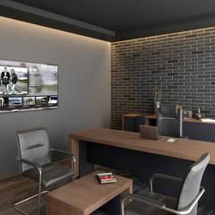 Gimnasios en casa de estilo  por Dündar Design - Mimari Görselleştirme
