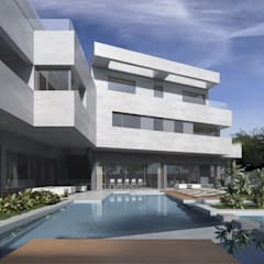 Piscina: Piscinas de jardín de estilo  de ARQZONE 3D+Design Studio