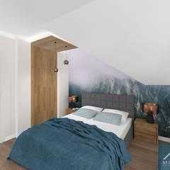 Wnętrza domu w Łuczycach: styl , w kategorii Sypialnia zaprojektowany przez Mleczko architektura