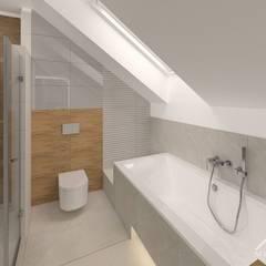 Wnętrza domu w Łuczycach: styl , w kategorii Łazienka zaprojektowany przez Mleczko architektura