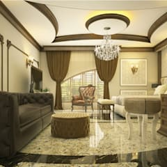 LUXURY INTERIOR BY MONNAIE: classic Living room by Monnaie Interiors Pvt Ltd