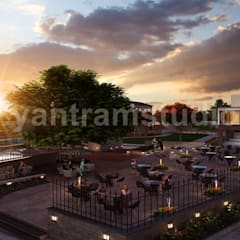 Out Door Restaurant Community Rendering ideas Provider Yantram Architectural Design Studio:  Multi-Family house by Yantram Architectural Design Studio