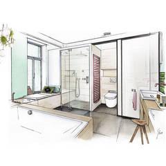 Arquitectura: Baños de estilo moderno por Cristian Gutierrez