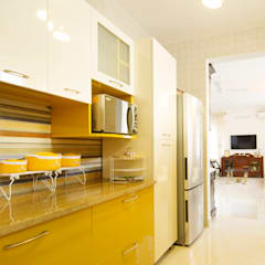Kitchen units by NuSpace Interiors