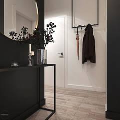Odważne mieszkanie z czerwienią: styl , w kategorii Korytarz, przedpokój zaprojektowany przez Ambience. Interior Design