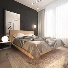 Odważne mieszkanie z czerwienią: styl , w kategorii Sypialnia zaprojektowany przez Ambience. Interior Design