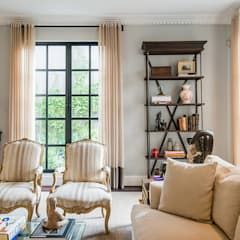 CASA ALPES: Salas de estilo  por KRESCH MORENO INTERIORES