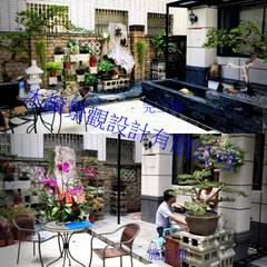 市政南一路庭園景觀:  露臺 by 沐頡景觀設計公司