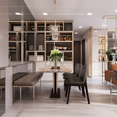 Phong cách hiện đại trong thiết kế nội thất căn hộ Vinhomes Central Park:  Phòng ăn by ICON INTERIOR