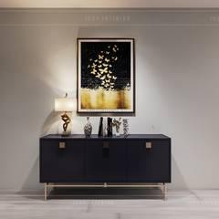 Phong cách hiện đại trong thiết kế nội thất căn hộ Vinhomes Central Park:  Cửa ra vào by ICON INTERIOR, Hiện đại