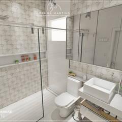 BANHEIRO SUÍTE: Banheiros  por BRUNA MARTINS Arquitetura + Interiores + Paisagem