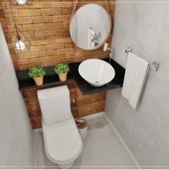 حمام تنفيذ BRUNA MARTINS Arquitetura + Interiores + Paisagem