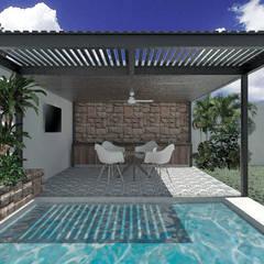 مسبح حديقة تنفيذ Heftye Arquitectura