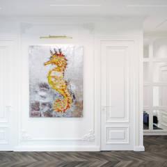 Кусочек Парижа в центре Москвы: Коридор и прихожая в . Автор – KOSO DESIGN