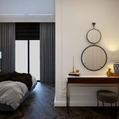 Кусочек Парижа в центре Москвы: Спальни в . Автор – KOSO DESIGN