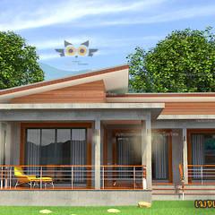 Meergezinswoning door แบบบ้านออกแบบบ้านเชียงใหม่, Eclectisch Beton