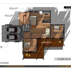 บ้านพักอาศัยชั้นเดียวผสมผสาน :  บ้านสำหรับครอบครัว โดย แบบบ้านออกแบบบ้านเชียงใหม่, ผสมผสาน คอนกรีต