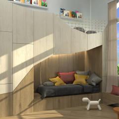 La cueva del Oso - Dormitorio Infantil: Dormitorios infantiles de estilo  por Barragan Carpinteria