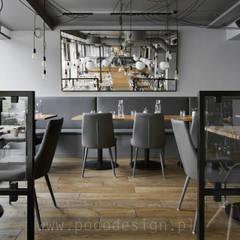 Restaurantes de estilo  por Pracownia Projektowa Poco Design