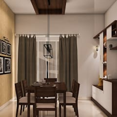 Diningn/Puja:  Dining room by Modulart