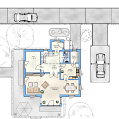 Single family home by HAUSBAU Berater + Betreuer Hans-Arnold Küfner