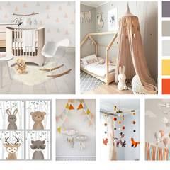 Mood Board Quarto de Bebé: Quartos de rapariga  por Filipa Sousa Interior Design