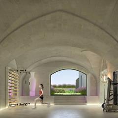 Can Abi: Palestra in stile in stile Moderno di architetto stefano ghiretti