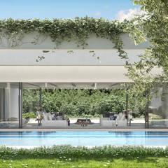 Can Abi: Piscina in stile  di architetto stefano ghiretti
