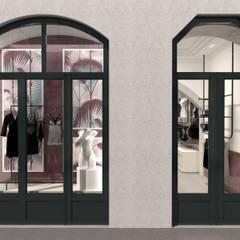 Montra da Golden Boutique: Lojas e espaços comerciais  por Filipa Sousa Interior Design