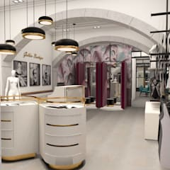 Golden boutique 1: Lojas e espaços comerciais  por Filipa Sousa Interior Design