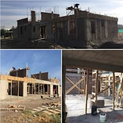 Avance de obra 60%_ Octubre 2018_ Primera etapa: Parcelas de agrado de estilo  por BIM Urbano
