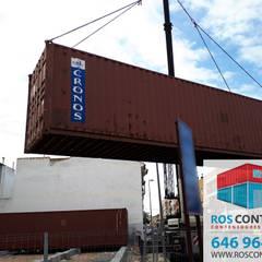 Contenedores marítimos para la construcción de un Restaurante: Bares y Clubs de estilo  de Ros container