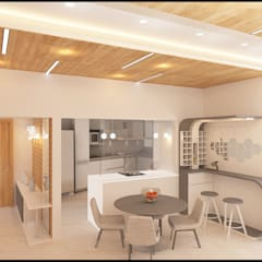 modern Dining room by Golden Spiral Productionz (p) ltd